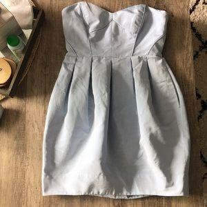 Blue strapless dress 6